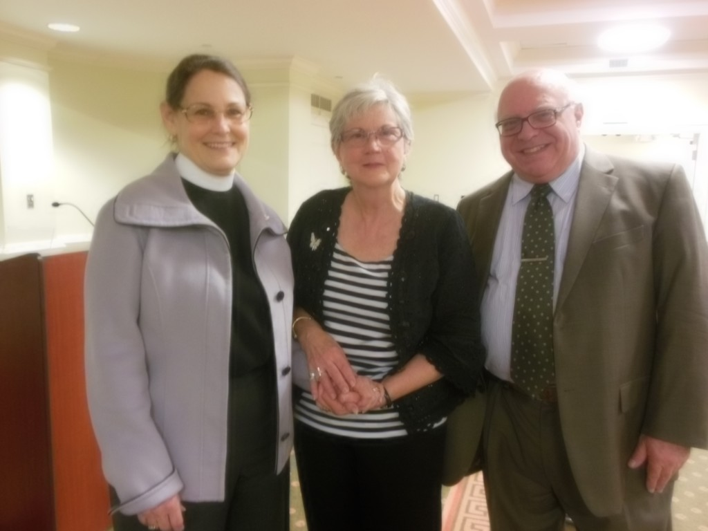 I visited with the Reverend Ann Dieterle, former associate rector of St. James, as well as John Hagadorn, a member there following a presentation and book signing at St. James Episcopal Church in Richmond
