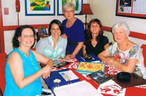 (L-R) Patty O'Connor, Christine Beresniova, Nancy Wright Beasley, Ingrida Vilkiene and Becky Quesenberry
